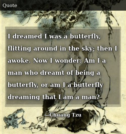 Butterfly Man Dream Quote